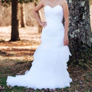 Mermaid sweetheart bridal dress  with ruffle